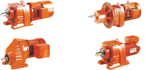 Helical gears and helical gear speed reducers and helical gearboxes